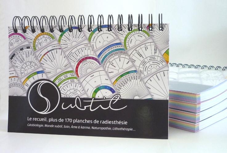 """Couverture du livre """"Subtil, le recueil"""" Collection de planches de radiesthésie pour pendule"""